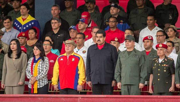 Maduro, en un acto conmemorativo, este lunes.