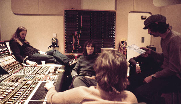 Pink Floyd en Abbey Road, en 1975.