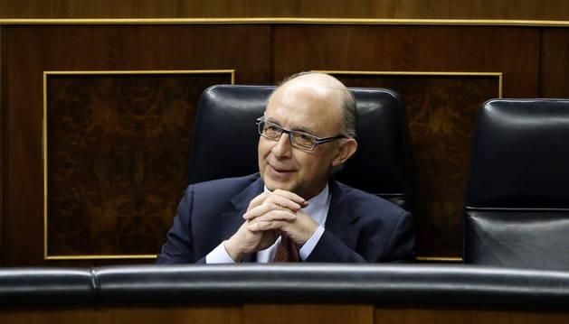 Cristóbal Montoro, en el Congreso de los Diputados.