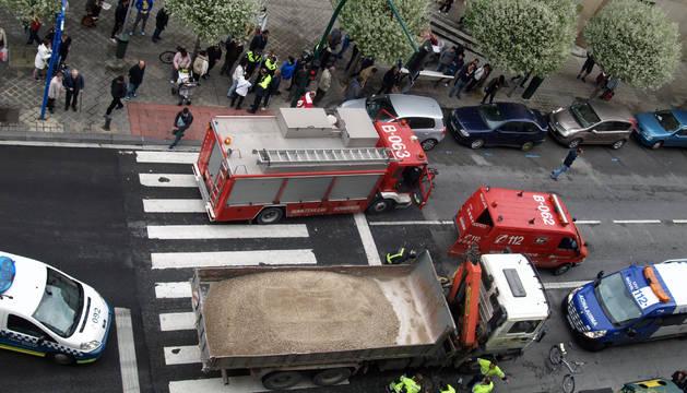El accidente se ha producido a mediodía en un paso de peatones.