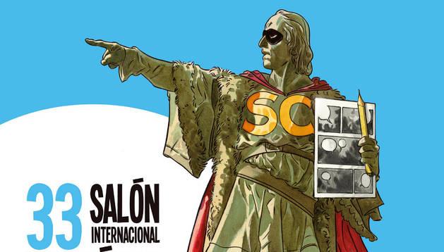 Cartel del Salón del Cómic de Barcelona.