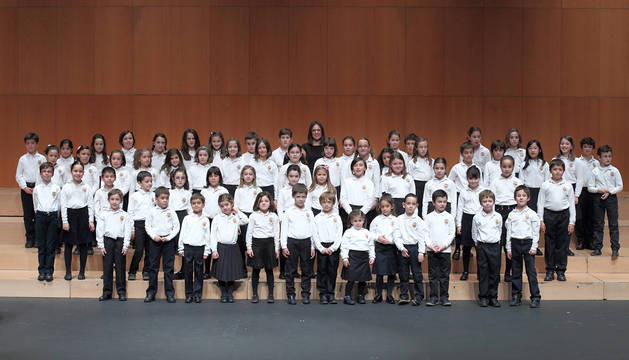 El coro infantil del Orfeón Pamplonés.