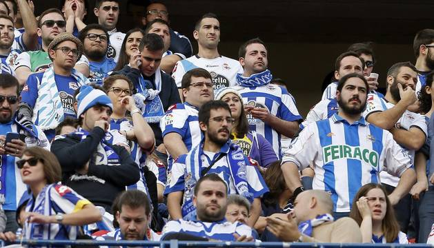 Aficionados del Deportivo.