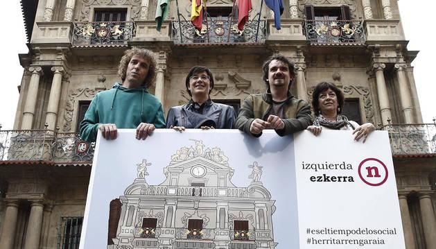 Presentación de la candidatura de Izquierda-Ezkerra en Pamplona.