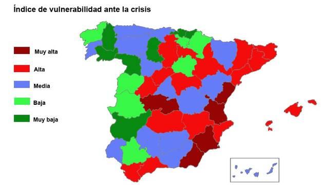 Navarra, entre las comunidades menos vulnerables por la crisis
