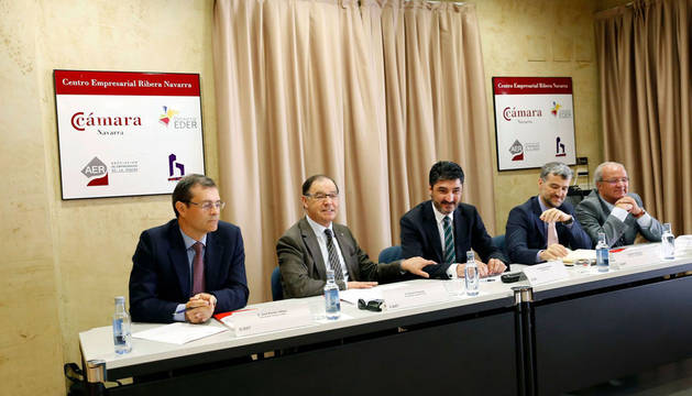 José Ramón Alfaro, Román Felones, Domingo Sánchez, Alfonso Carlosena y Jesús Arrondo.