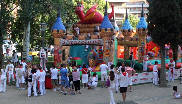 El parque de 'Menudas fiestas' volverá en San Fermín a Conde Rodezno