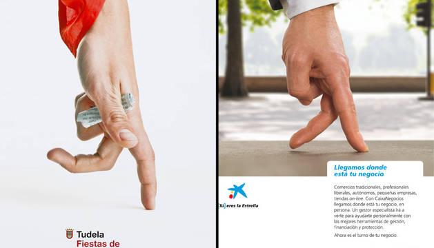 Polémica en Tudela por el parecido entre el cartel de fiestas y un anuncio