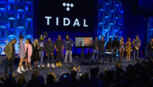 Presentación de Tidal el pasado 30 de marzo en NY.