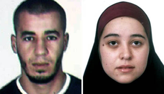 Fotografías facilitadas por el Ministrio del Interior de Ahmed Debza, de nacionalidad marroquí, y Nadia Ataich Fernández, española.