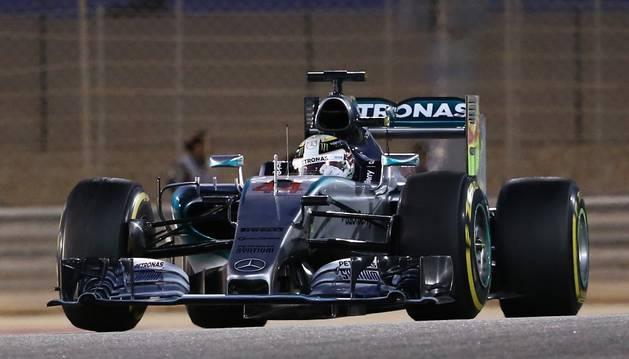 Lewis Hamilton, en Baréin