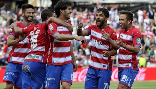 El Granada celebra el 1-0 de Mainz