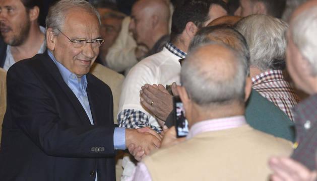 Alfonso Guerra, en un acto electoral en Valladolid.