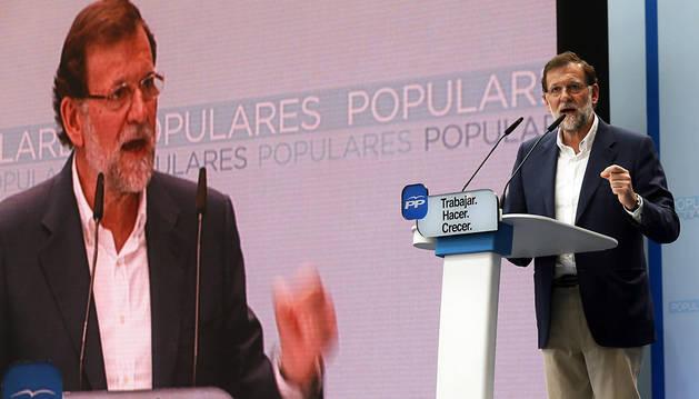 Rajoy, este domingo en Alicante.