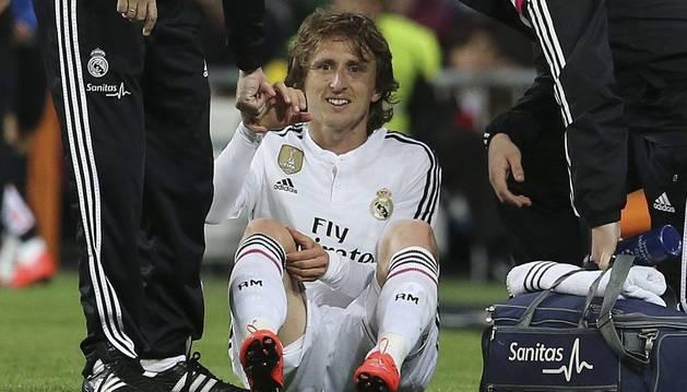 Modric, tras su lesión