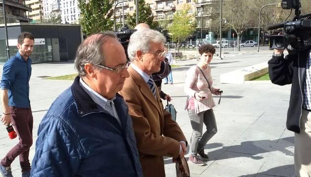 Desfile de imputados en la Audiencia de Navarra