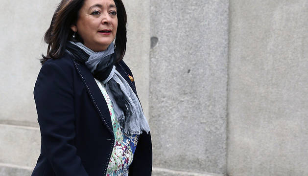 Mar Moreno, a su llegada al Tribunal Supremo para declarar: