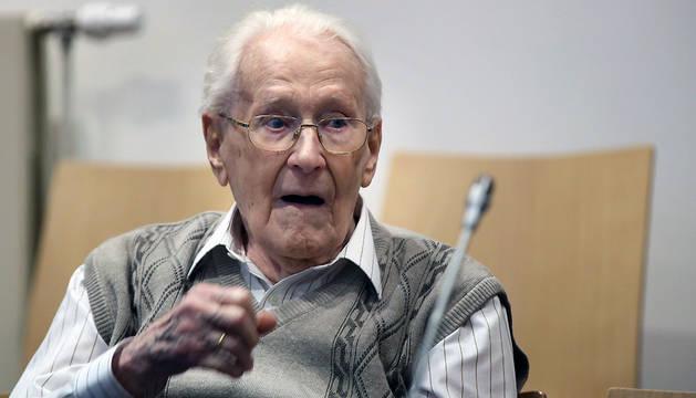 Oskar Gröning, durante el juicio.