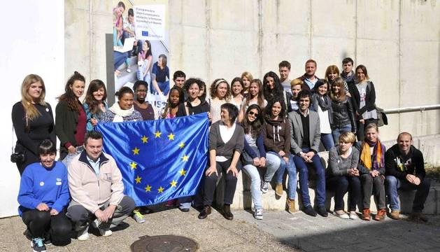 Pamplona acoge la formación de 25 jóvenes voluntarios europeos