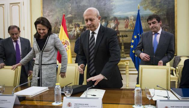 José Ignacio Wert, instantes antes de la conferencia sectorial.