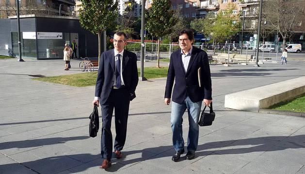 Javier Zabaleta llega a la Audiencia para declarar en el Caso Osasuna