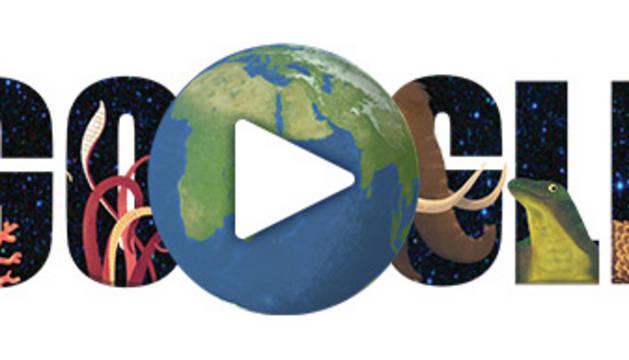 'Doodle' de Google del 22 de abril.