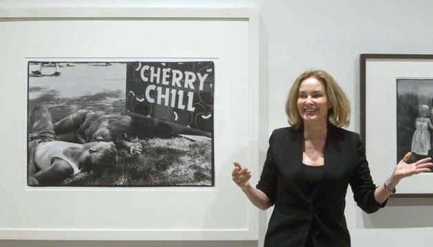 Jessica Lange presenta en Barcelona su exposición de fotos.