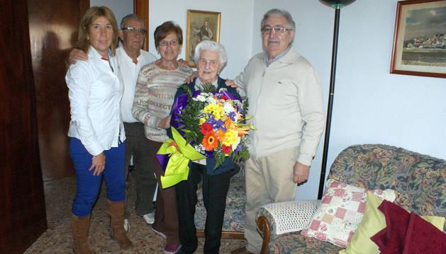 La cascantina María Jarauta Pérez celebra su 101 cumpleaños