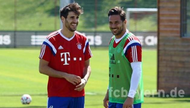 Javi Martínez, con el Bayern