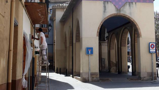 San Antón, la calle más estrecha de la capital ribera