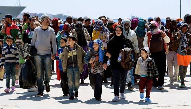 Parte de los cientos de inmigrantes que han llegado a Augusta.