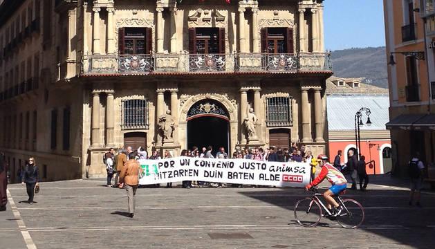 Protesta de los empleados de ANIMSA.