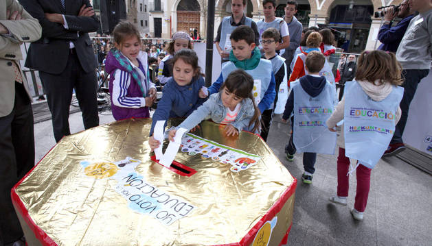 Niños riberos piden educación global