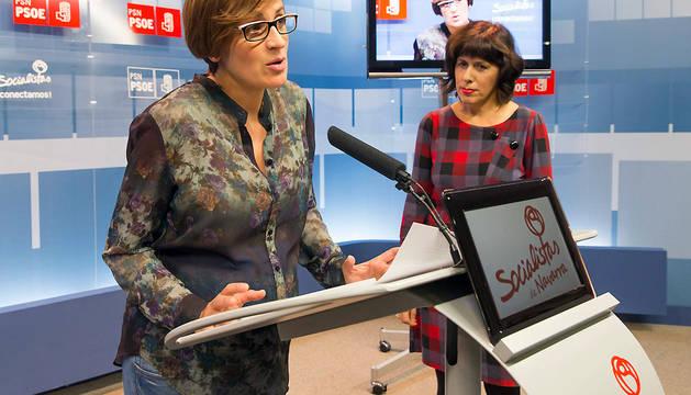 María Chivite (izda.) y Maite Esporrín.