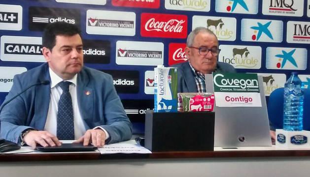 Pedro Baile y Luis Sabalza, en rueda de prensa.