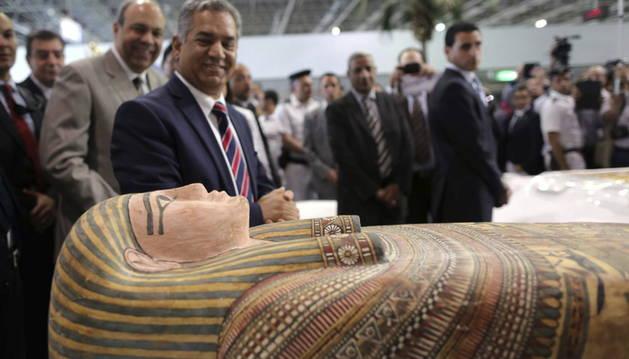 Una de las piezas recuperadas en Egipto.