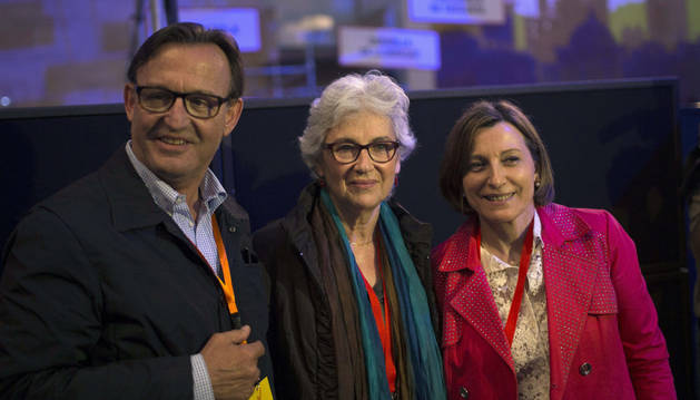 Representantes de las fuerzas independentistas catalanas.