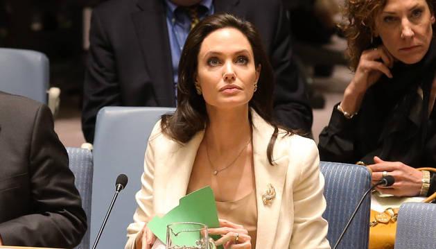Angelina Jolie, en el Consejo de Seguridad de la ONU.