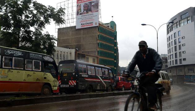 Tráfico en las calles de Nairobi.