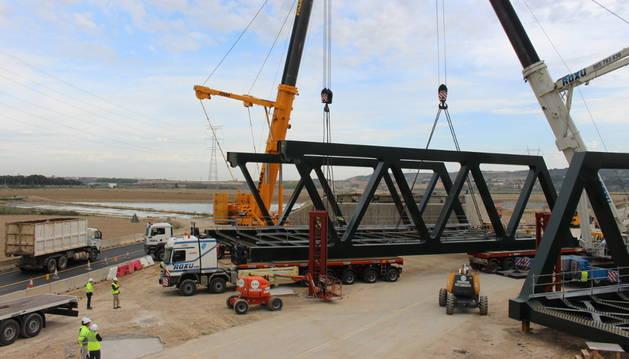 Finalizada la estructura metálica para el paso del Tren de Alta Velocidad