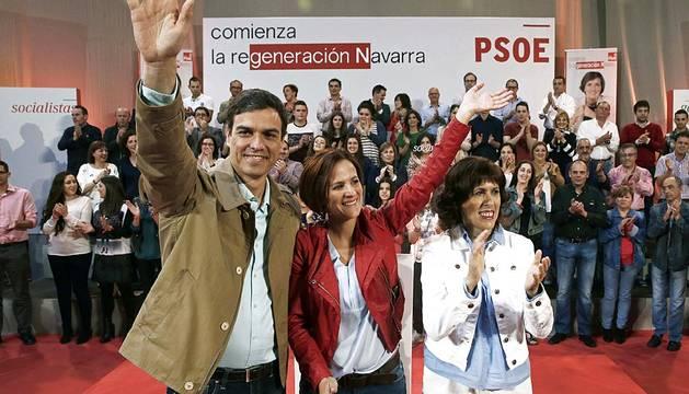 Visita de Pedro Sánchez a Pamplona