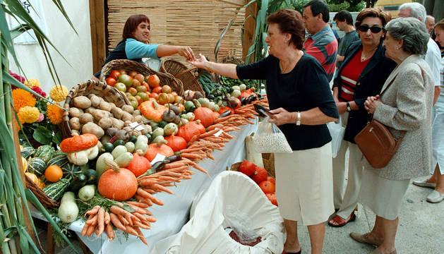 Feria de alimentos ecológicos.