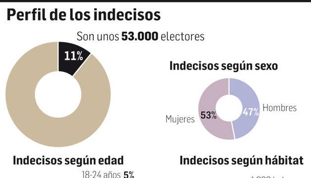Gráfico: Perfil de los indecisos.