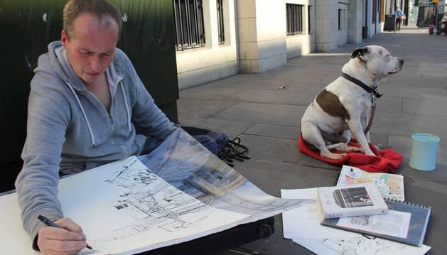 George, el perro que salvó y cambió la vida al vagabundo