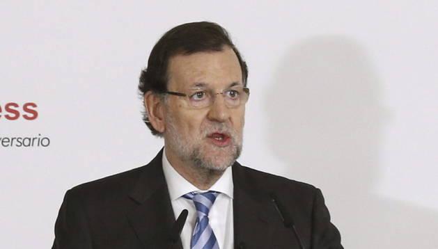 El presidente del Gobierno, Mariano Rajoy, durante su participación en un desayuno informativo.