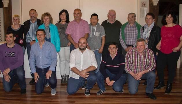 Miembros de la candidatura de Baztango Ezkerra para las próximas elecciones de mayo.