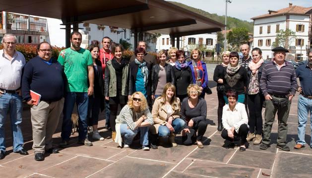 Miembros de la candidatura Urdazubi Elgarrekin.