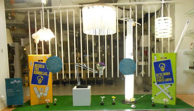 La luz reciclada, de 'Iluminación Helios', primer premio del concurso.