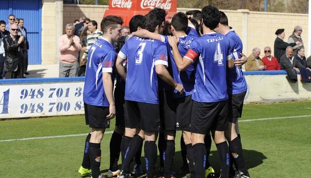 Celebración en el Peña Sport-Izarra.