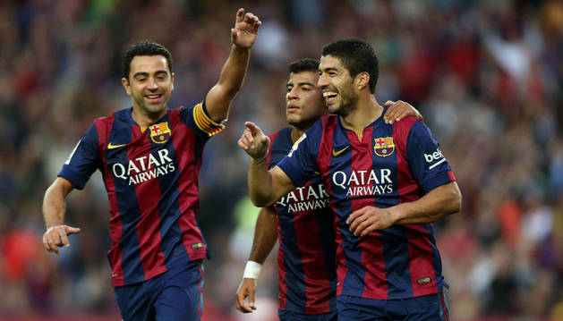 Suárez celebra su gol contra el Getafe